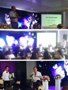 著名微商讲师培训师刘杰克老师做客广东广州为韩国膜焕护肤讲授微商与微营销实战课程